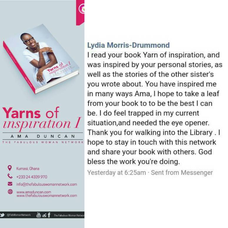 Yarns of inspiration I feedback Lydia
