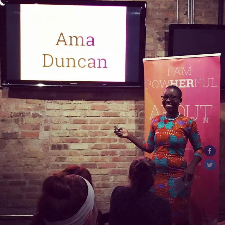 Ama Duncan Speaking @ Nikki Nigl's About Women